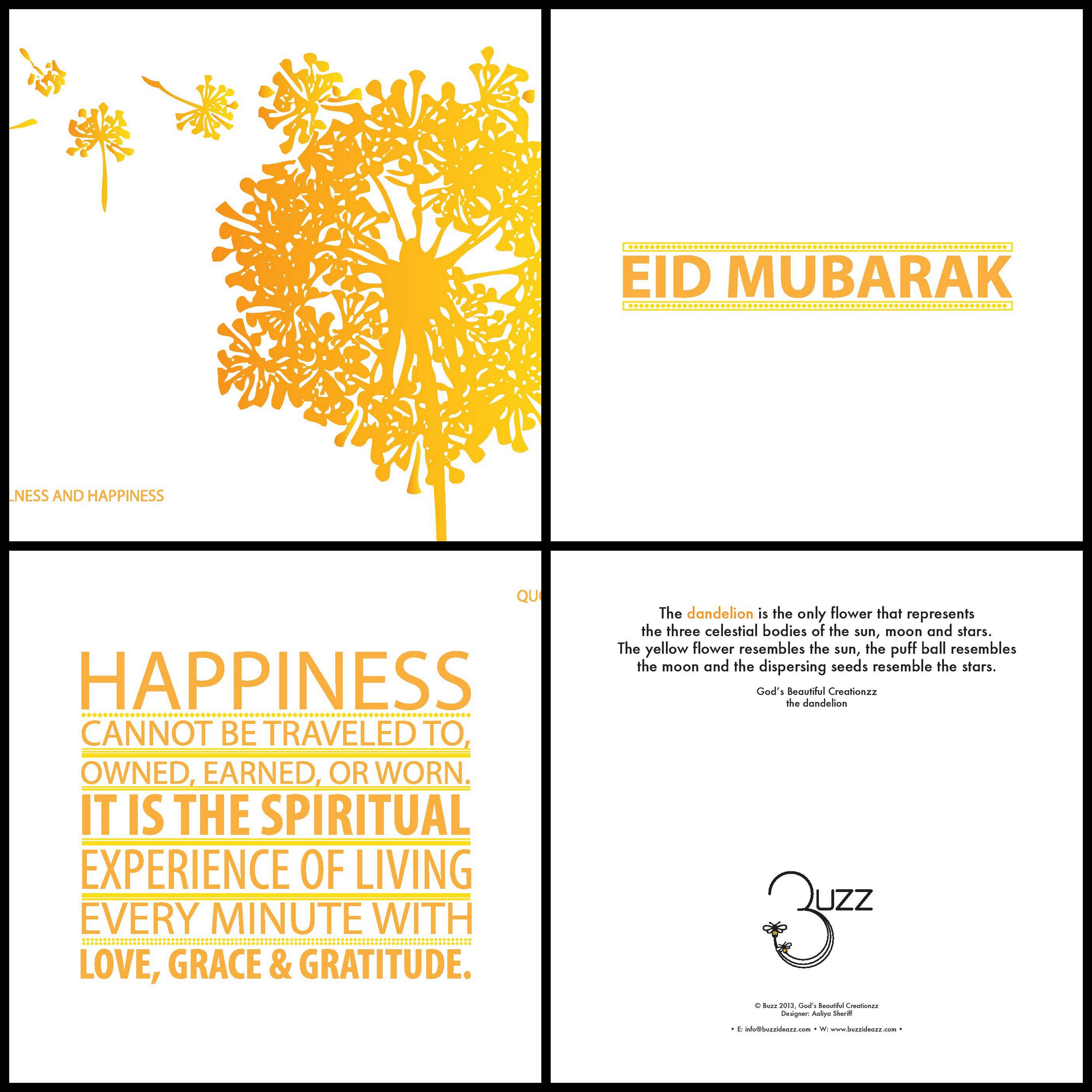 God S Beautiful Creationzz A Set Of Eid Cards Focusing On