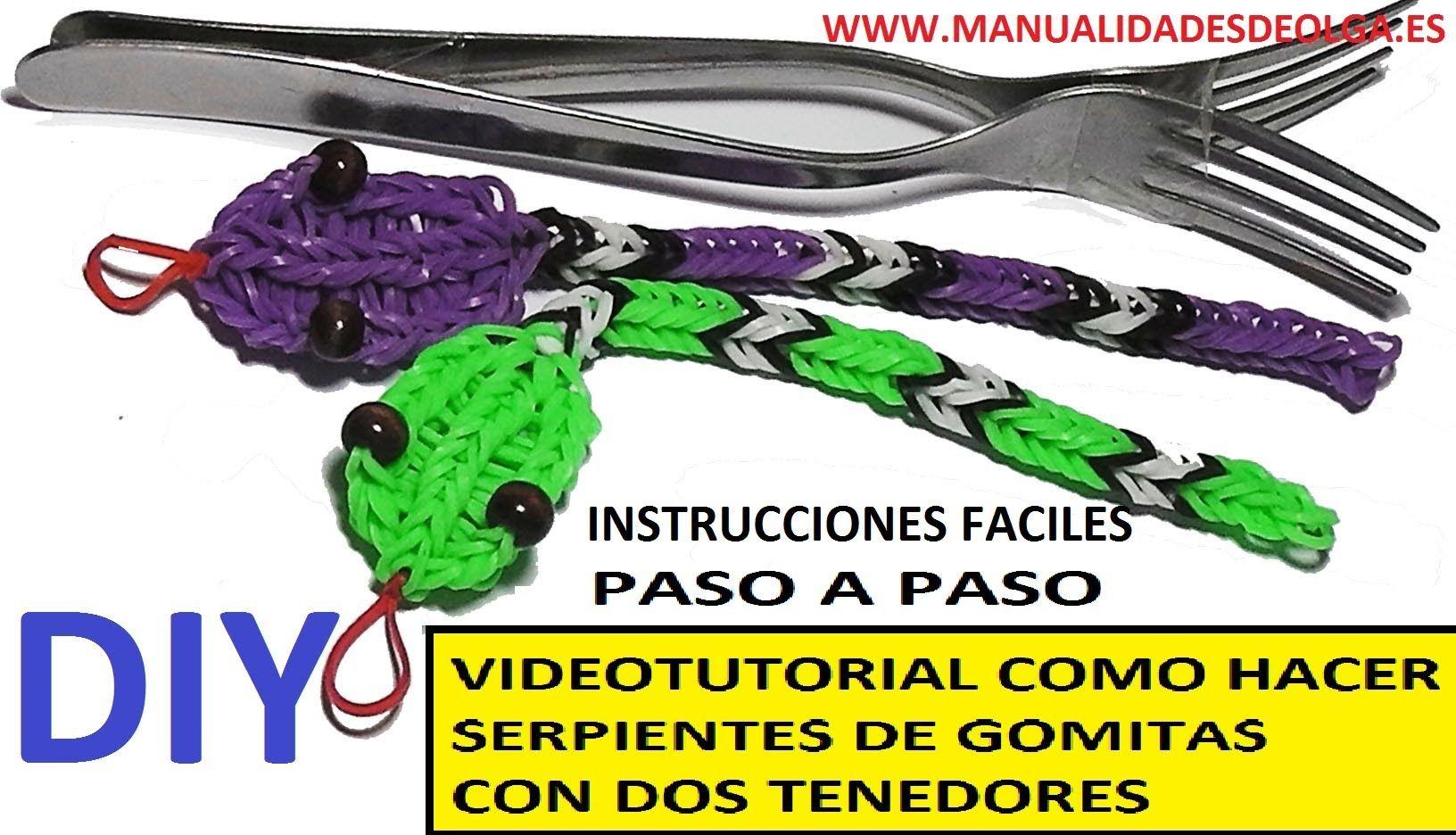 COMO HACER UNA SERPIENTE DE GOMITAS CON DOS TENEDORES VIDEO