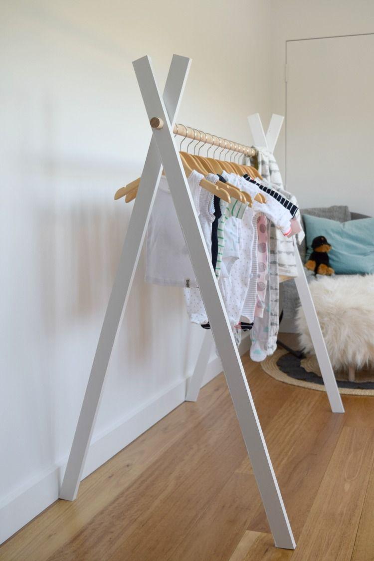 Schicke und praktische DIY-Kleiderständer, die Ihre Garderobe zur Schau stellen #diyclothes
