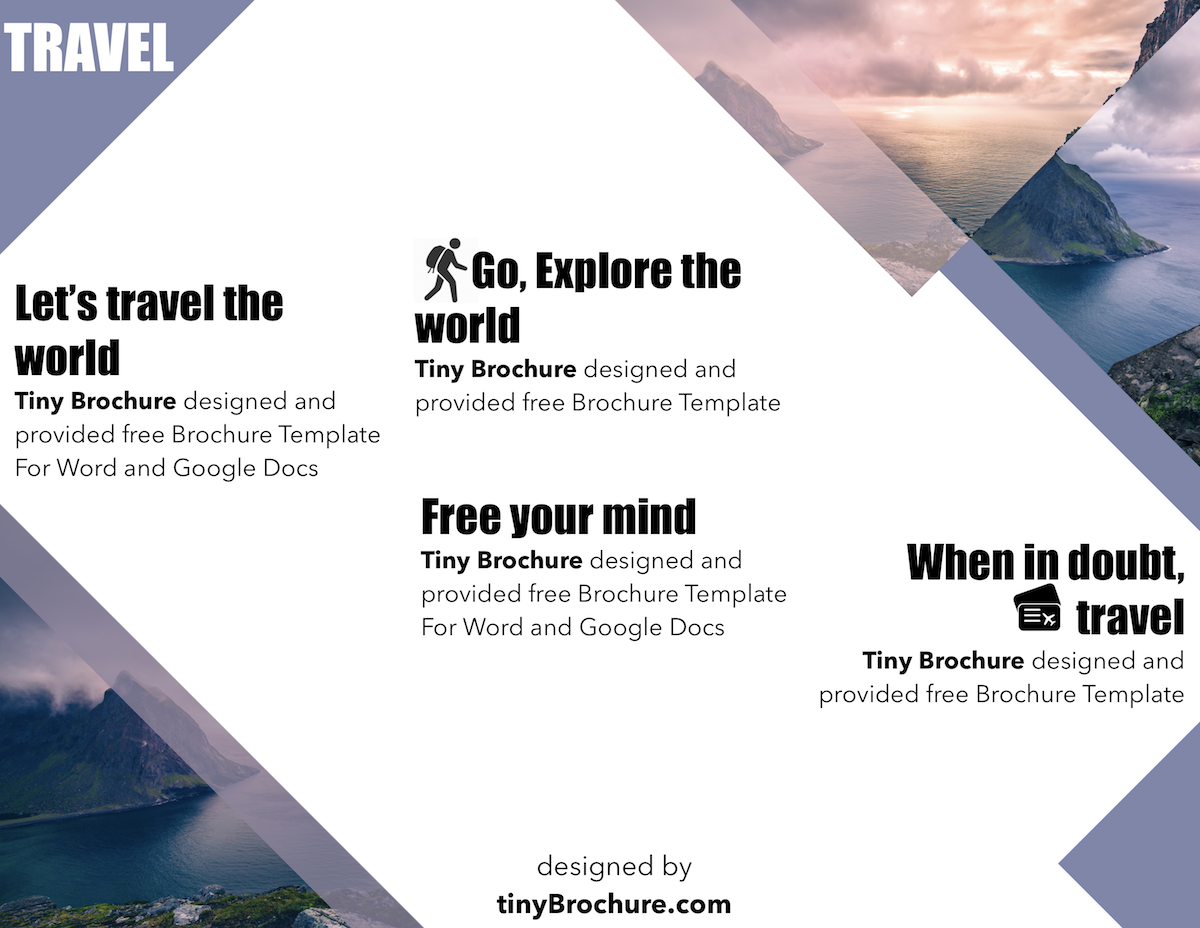 Brochure Travel Template Brochure Travel Templates Brochure Template