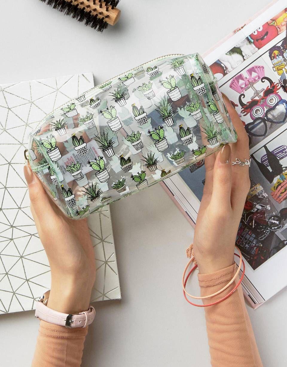 New Look Clear Cactus Make Up Bag Cute makeup bags, Bags