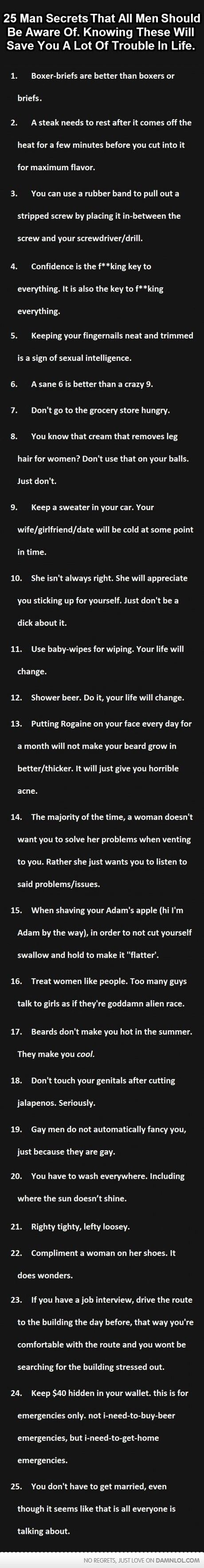 Pro Tips For Most Guys