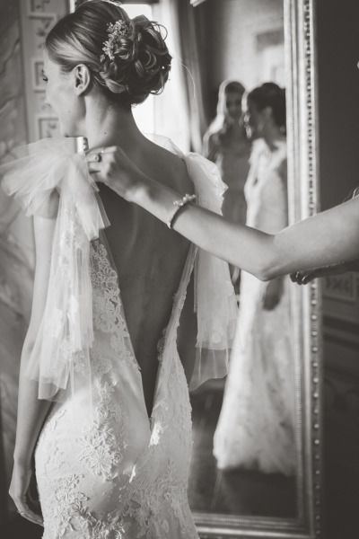 This black and white photo is stunning: http://www.stylemepretty.com/destination-weddings/2015/01/13/elegant-tuscany-castle-wedding/   Photography: Studio A+Q - http://studioaq.com/