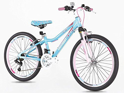 Hardtail Girls Alloy 24 Inch Mountain Bike Light Weight Suspension