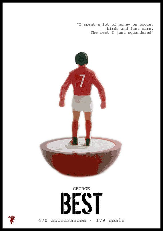 MANCHESTER UNITED George Best Quote Poster by Redpostbox ...