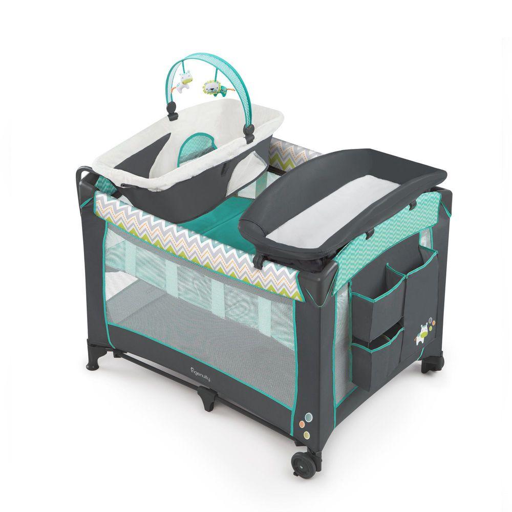 Playard Playpen Travel Baby Bassinet Changing Table Crib Mobile ...