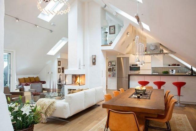 loft einrichten dachboden offener wohnbereich oberlichter. Black Bedroom Furniture Sets. Home Design Ideas
