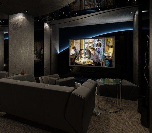 Home Theatre Contemporary Media Room Vancouver Vadim