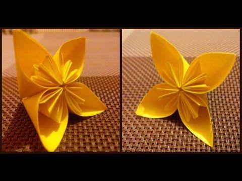 Origami flowers for beginners easy modular origami for children origami flowers for beginners easy modular origami for childrenkids origami daffodil flower youtube mightylinksfo