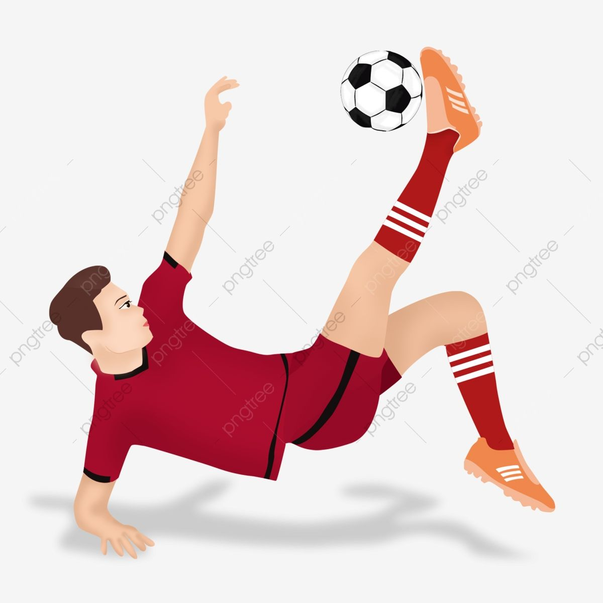 Football Player Character Material Creative Cartoon Soccer Player Png Transparent Image And Clipart For Free Download In 2020 Football Players Soccer Players Player Character