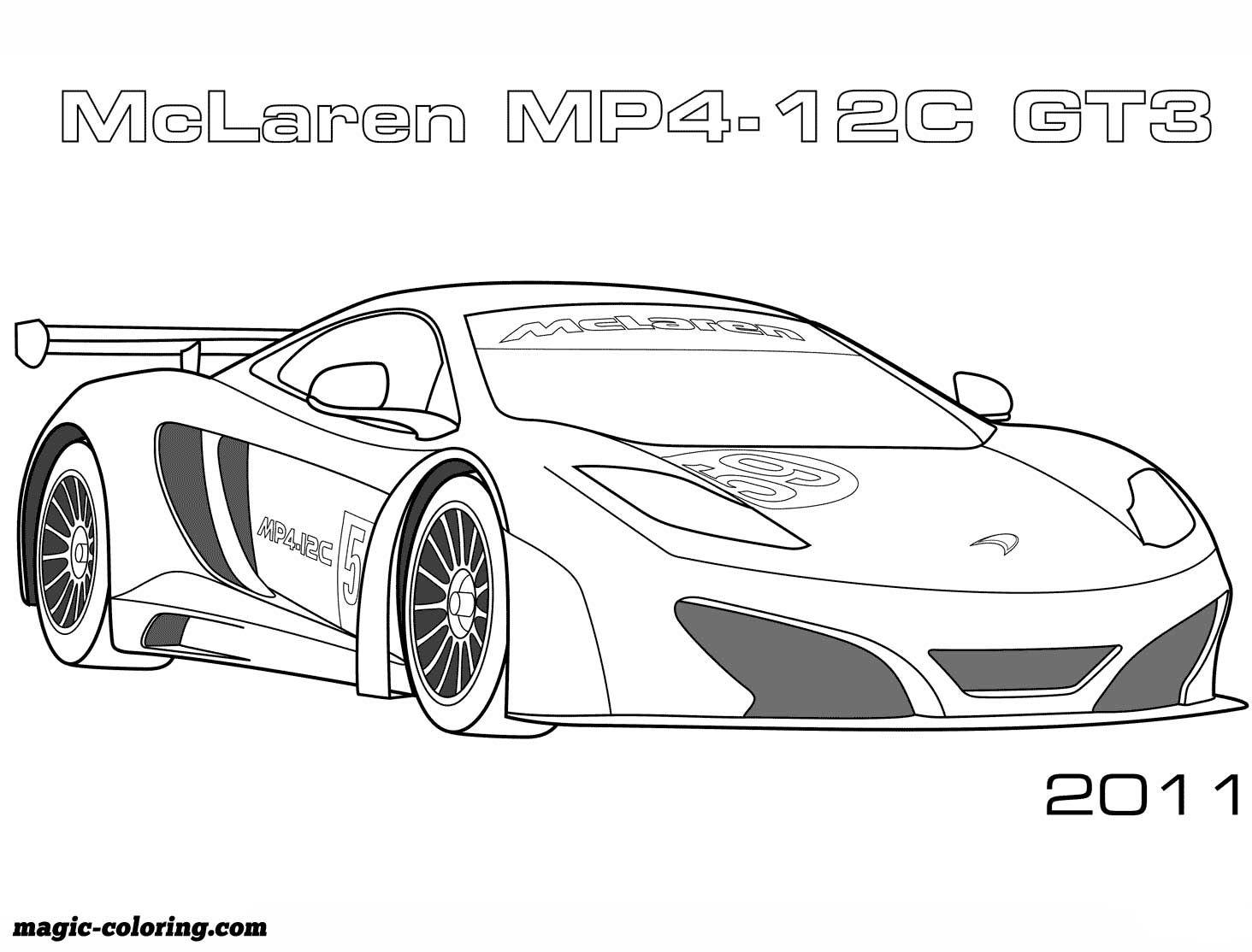 20 McLaren MP20 20C GT20 coloring page  Cars coloring pages, Race