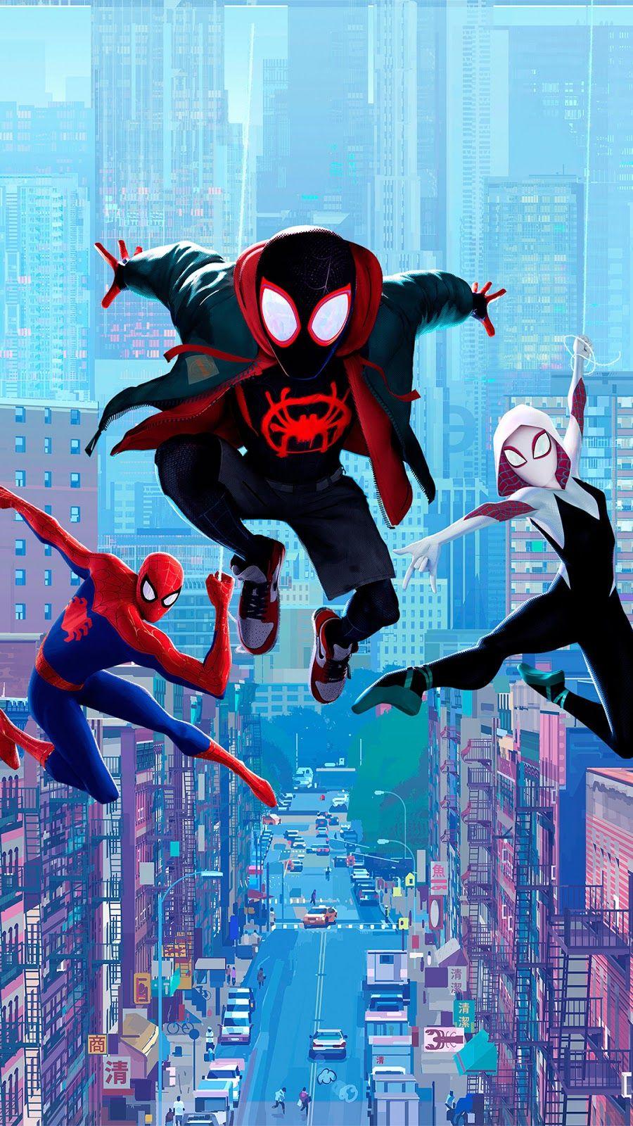 Spider Man Into The Spider Verse Wallpaper Spiderman Marvel