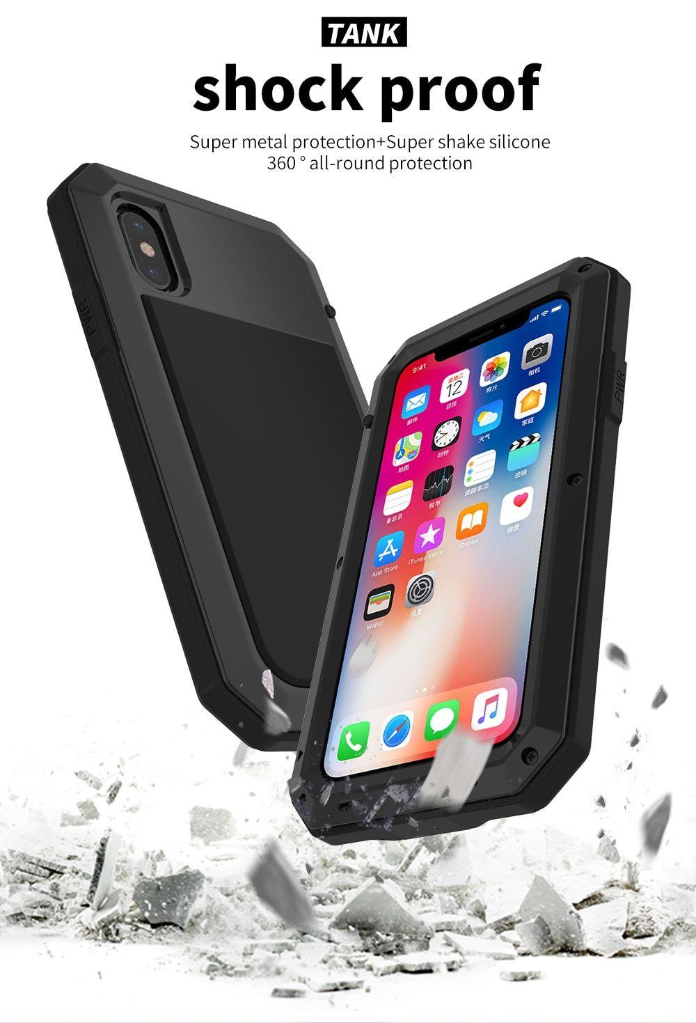 Heavy duty protection doom armor metal aluminum phone case