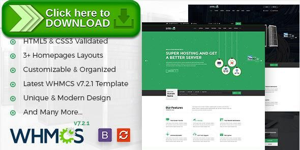 ThemeForest]Free nulled download Super Host - WHMCS & HTML Template ...