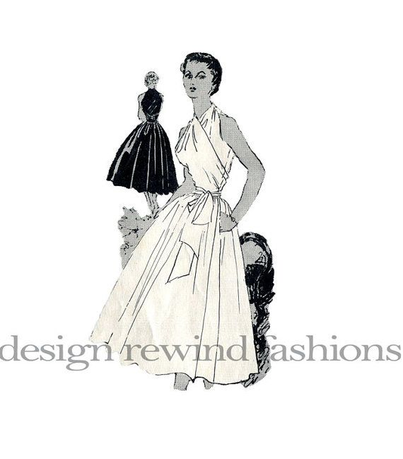 1950s CLAIRE McCARDELL Iconic Popover Cocktail Dress Pattern SPADEA ...