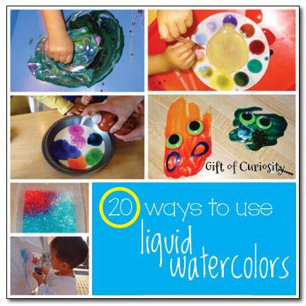 20 Ways To Use Liquid Watercolors Preschool Palooza Preschool