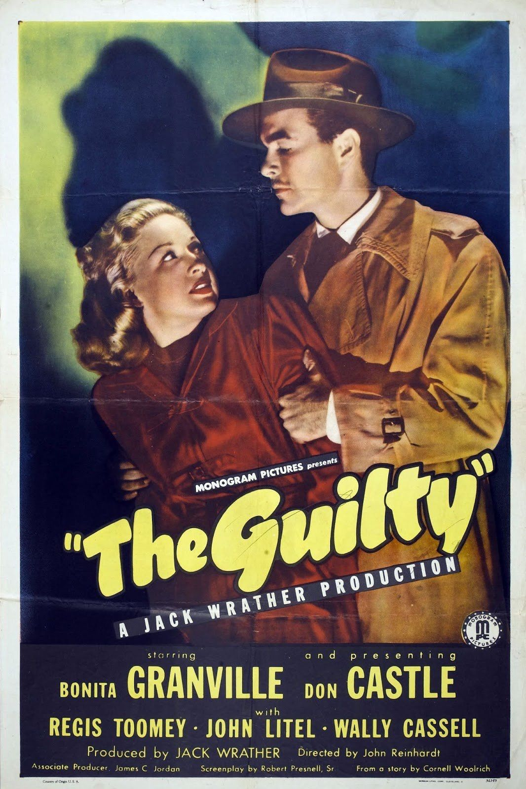 The Guilty Film noir, Movie posters, Old hollywood movies