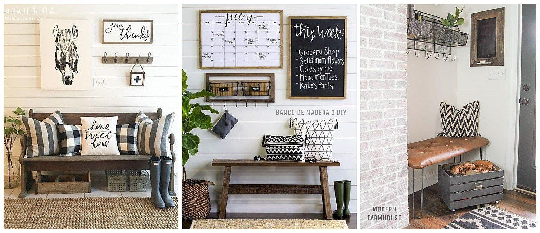 Banco r stico de madera o diy para decorar tu hogar con for Decoracion de interiores estilo moderno
