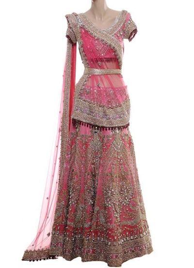 Pink Embroidered Lehenga