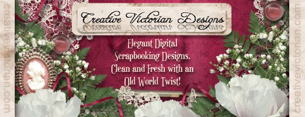 Elegant Digital Scrapbooking Designs, Clean and Fresh with an Old World Twist