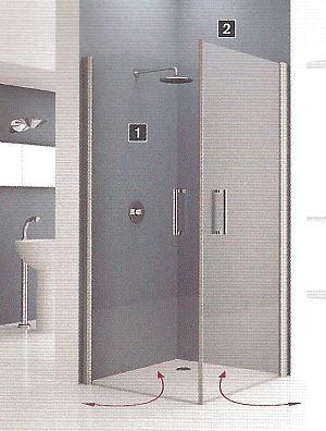 Novellini Giada Two Door Corner Shower Enclosure Bathroom Renovation Shower Corner Shower Corner Shower Enclosures