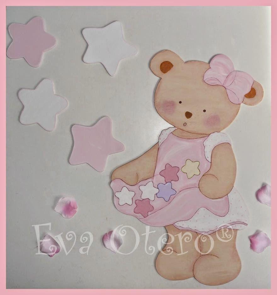 Ositas cuadros infantiles pinterest osos goma eva y gomitas - Cuadros artesanales infantiles ...