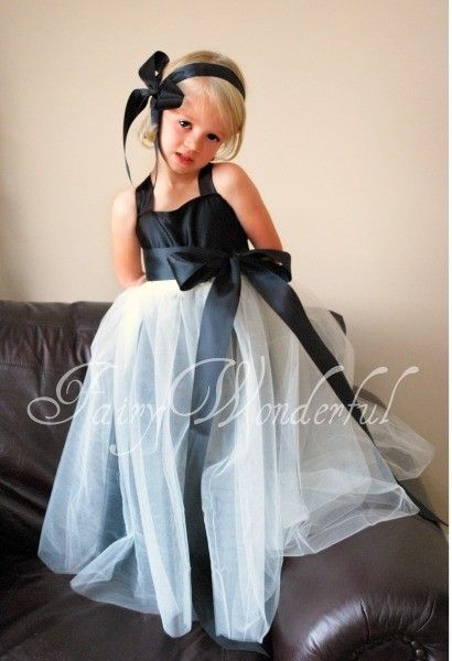 Black and white flower girl dress | Tricia's Wedding | Pinterest ...