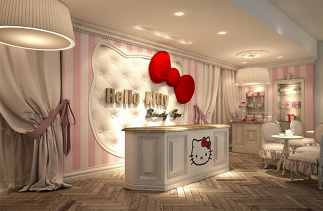 """Hello Kitty Beauty Spa in Dubai - a """"destination that defines exclusive posh pampering"""" for """"girly-girls"""". Visitors to the spa can get a """"Kitty-Cure"""" manicure for their """"paws"""", a """"Toe-Tally Perfect"""" pedicure and a variety of massages."""