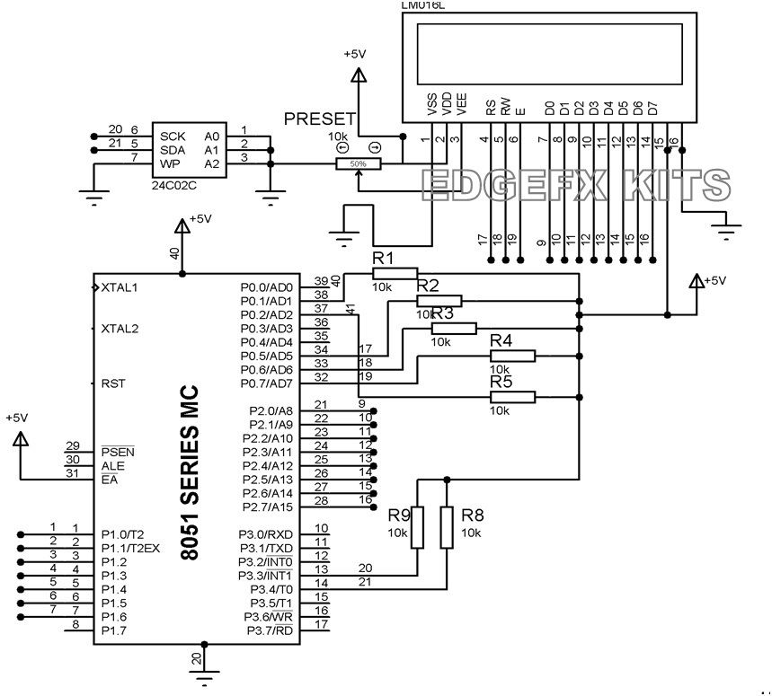 ultrasonic range finder using 8051 electronic circuits and diagram