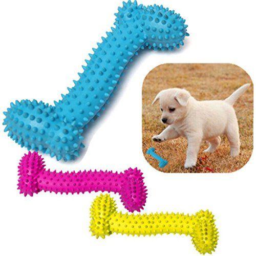 Pets Empire Pet Toys Curvy Bone Colorful Rubber Pet Dog Puppy