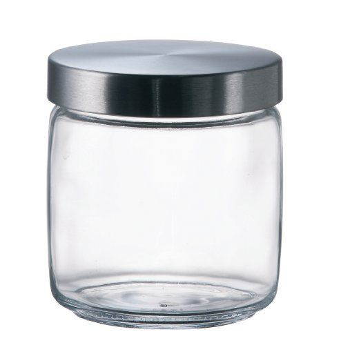 Bormioli Rocco Giara Jar With Black Lid 25 1 2 Ounce By Bormioli Rocco Glass Co Inc 11 08 Superior Resistant To Use And Di Glass Jars Bormioli Rocco Jar