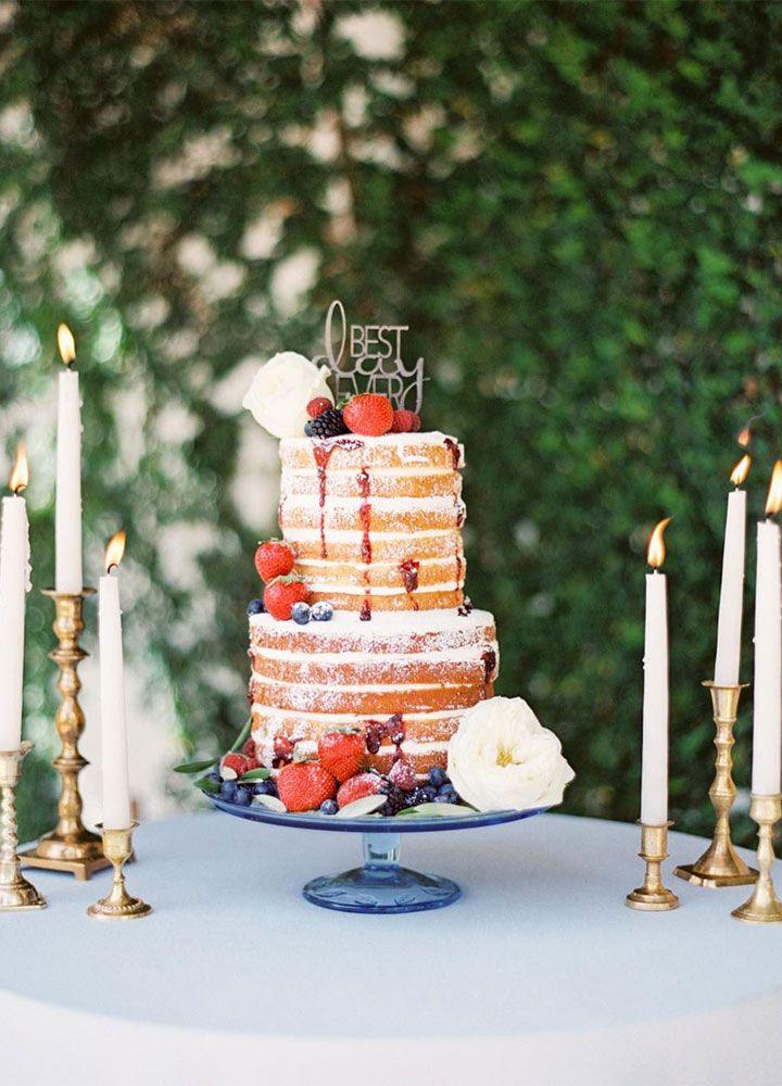 Beautiful naked wedding cake inspiration - wedding cake ideas #nakedweddingcake #twotiers #weddingcake