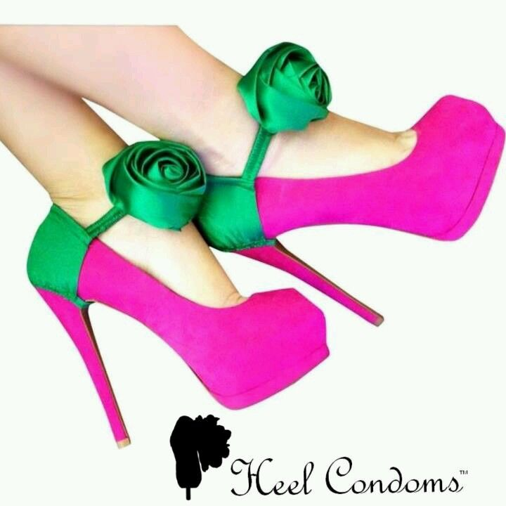 Sass your shoes up #heelcondoms #blogged about this a while ago look it up #izatrend #loves