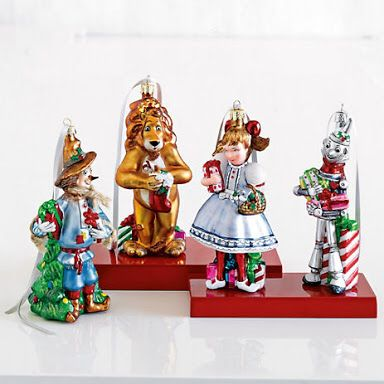 Wizard of Oz ornament set from Gumps - Wizard Of Oz Ornament Set From Gumps Christmas, Happy Birthday