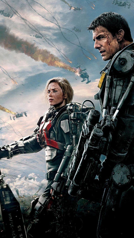 Edge Of Tomorrow 2014 Phone Wallpaper Moviemania Edge Of Tomorrow Science Fiction Movies Comic Movies