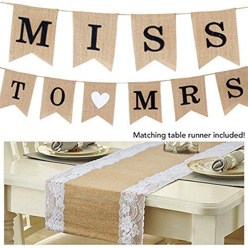 Burlap Miss to Mrs. Party Banner & Matching Table Runner ... https://www.amazon.com/dp/B06ZYSYKBV/ref=cm_sw_r_pi_dp_x_-eYizb8MHZ90G