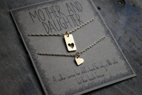 Mother Daughter Necklace Set . a mother carries от honeyverse