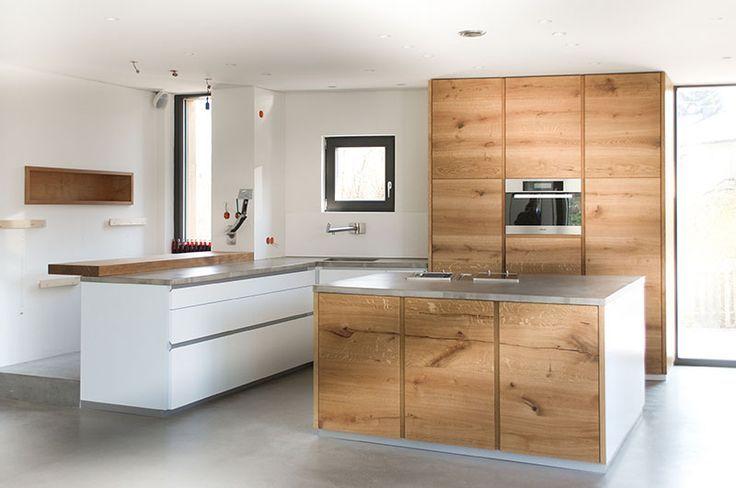 Oak Concrete Kitchen Concrete Eiche Kitchen Oak Kuche Beton Kuche Kuche Eiche