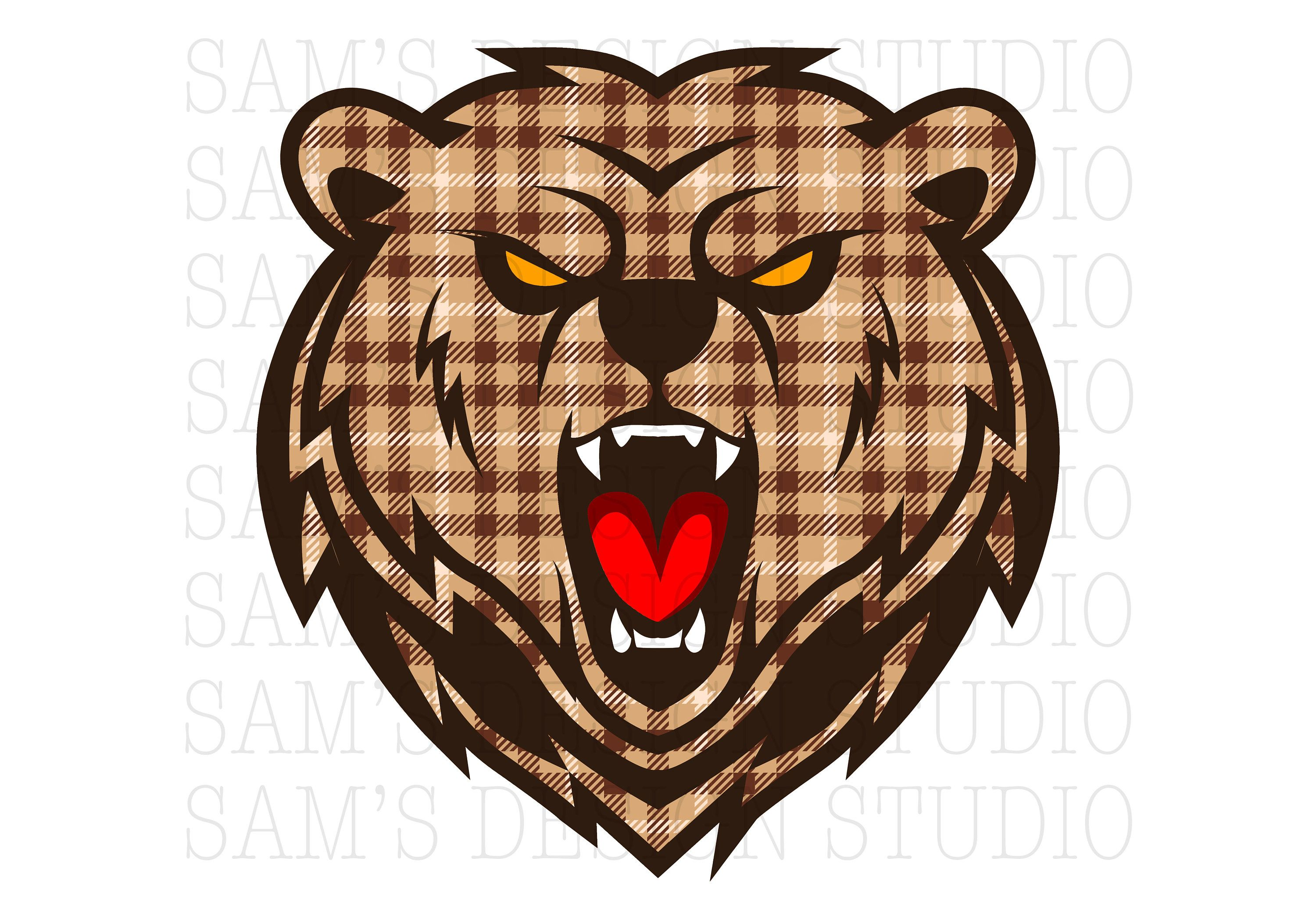 Bear Head Png Bear Head Sublimation Designs Downloads Bear Etsy Sublimation Printers Sublime Photo Editing Software