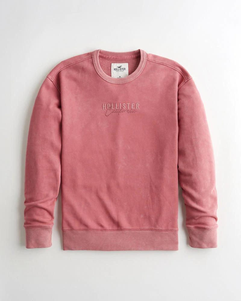 Guys Garment Dye Terry Crewneck Sweatshirt Guys Tops Hollisterco Com Sweatshirts Crew Neck Sweatshirt Garment Dye [ 1000 x 800 Pixel ]