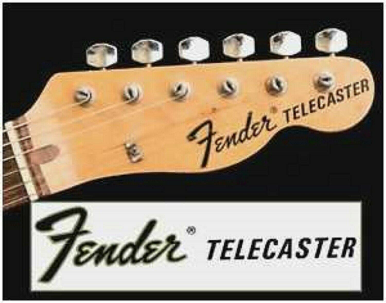 Fender Decal Headstock Logo Telecaster Usa Telecaster Fender Telecaster Telecaster Custom