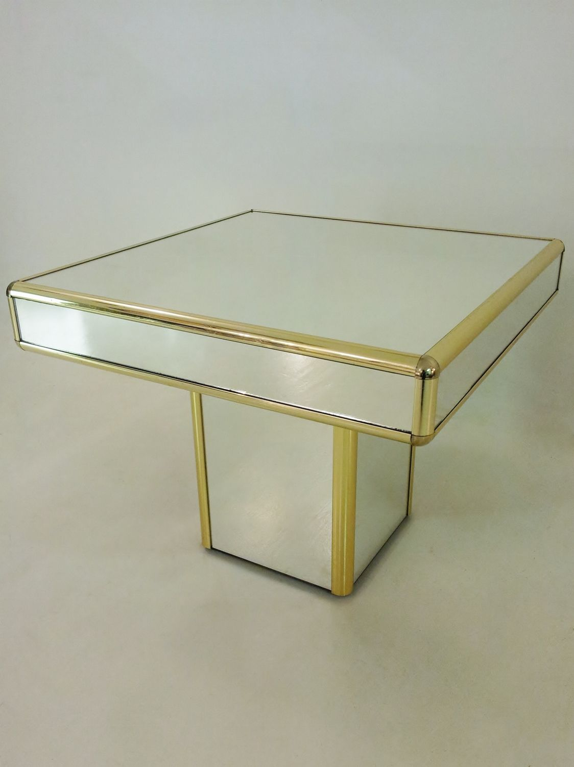 Mirrored Vintage Coffee Side Table 1970 S Ca French Www
