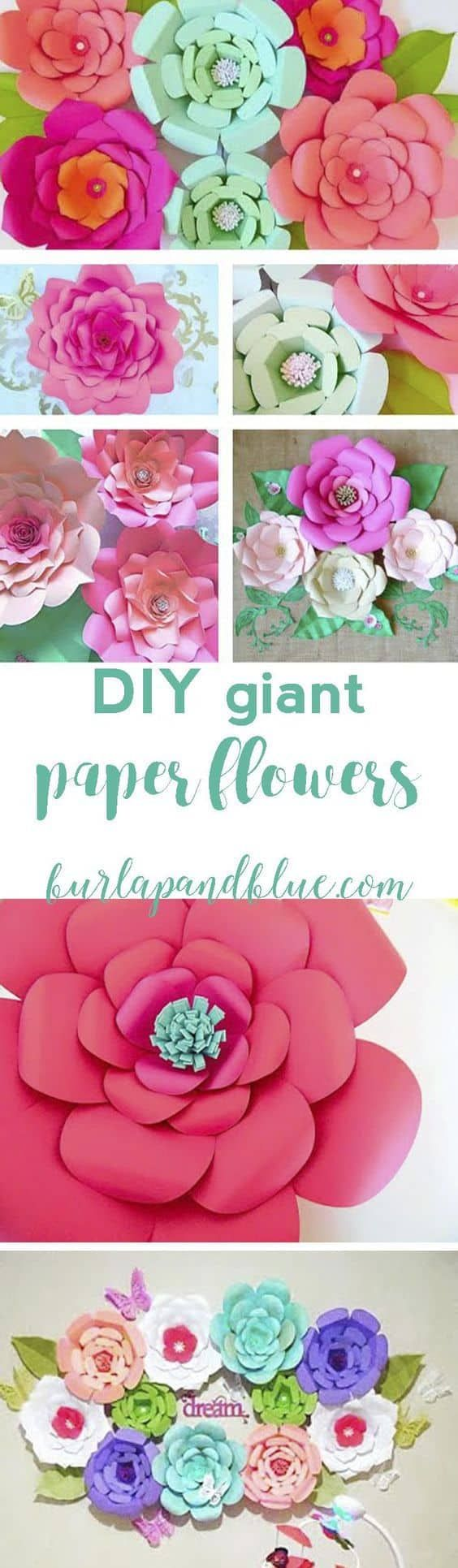 How To Make Paper Flowers Flowers Craft And Birthdays