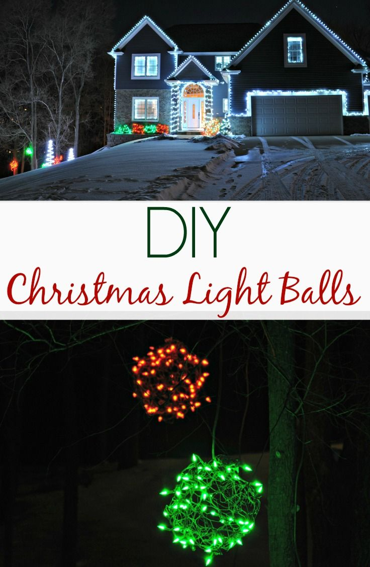 outdoor holiday lighting ideas. diy christmas light balls. easy project for the holidays! outdoor holiday lighting ideas d