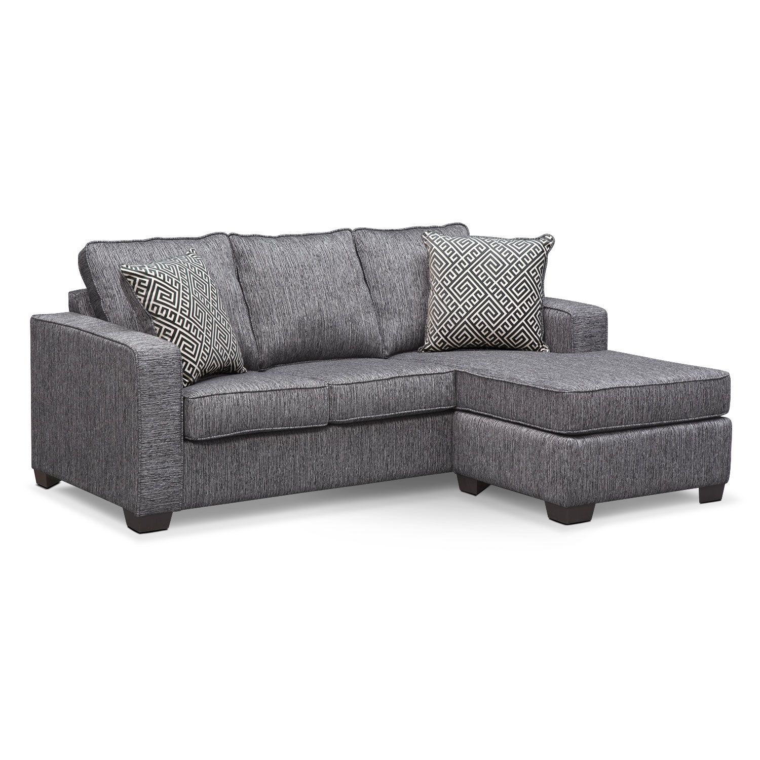 $799 99 Living Room Furniture Sterling Charcoal Queen Memory
