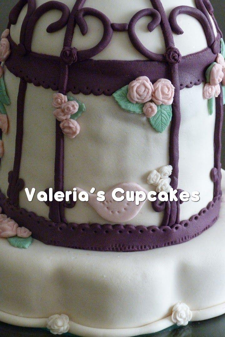 Valeria´s Cupcakes: Torta Jaula de pájaros