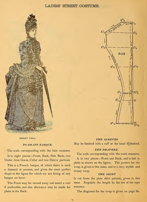 59 Victorian DRESS SEWING PATTERNS Design Your Own Theatre Costumes ...