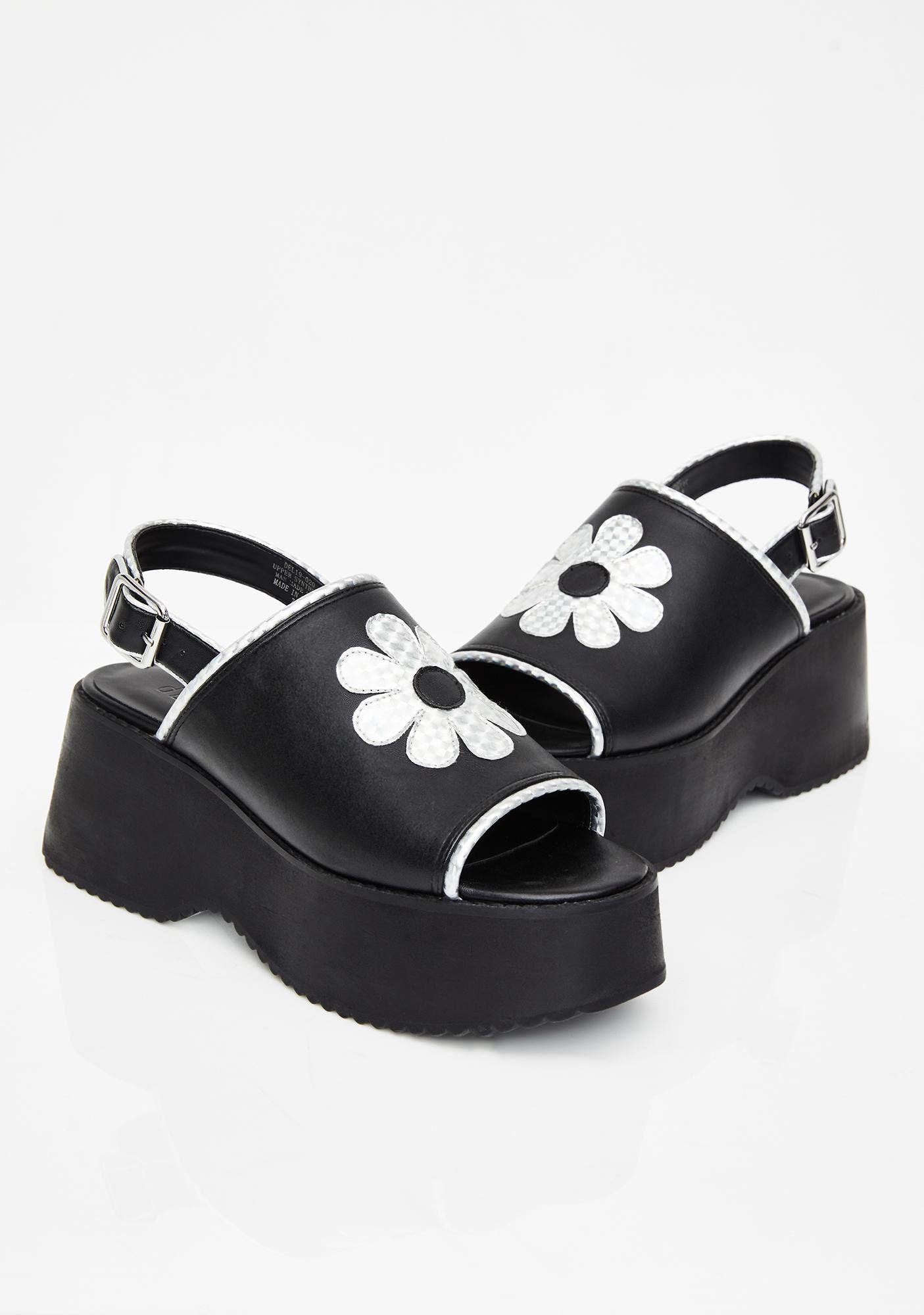 delias platform sandals