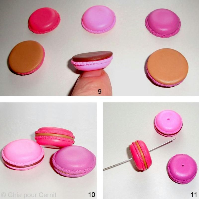 tuto porte cl macaron en p te cernit id es conseils et tuto bijoux fimo macarons tr s. Black Bedroom Furniture Sets. Home Design Ideas