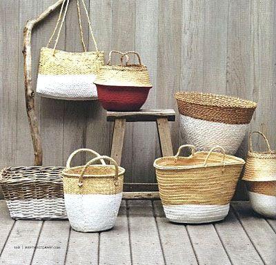 Superb Paint Dipped Wicker Baskets   Martha Stewart Living · Diy IdeasCraft ...